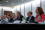 U.S. Delegation Listens to Philippine Foreign Secretary Del Rosario in Manila