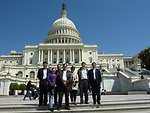 Chinese delegation in front of U.S. Capitol