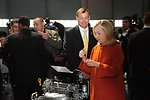 Secretary Clinton Prepares To Sign a Completed Engine