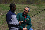 Regional Director Tom Melius Shares Fishing Wisdom with Student