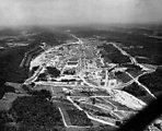 Aerial of Y-12 Looking East Oak Ridge 1947