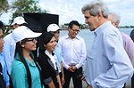 Secretary Kerry Chats With Young Climate Change Students