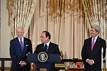 French President Hollande Delivers Remarks at a State Lunch