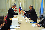 Secretary Kerry Presents Russian Foreign Minister Lavrov With a Giant Pair of Idaho Potatoes