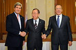 Secretary Kerry, Foreign Minister Lavrov Meet With Secretary-General Ban