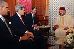 Secretary Kerry Meets With King Muhammed VI of Morocco in Casablanca