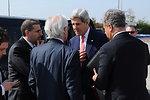 Secretary Kerry Speaks With Middle East Negotiators Before Departing Tel Aviv