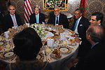 Moroccan Prime Minister Benkirane Hosts Secretary Kerry for Working Dinner