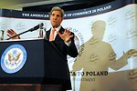 Secretary Kerry Addresses the American Chamber of Commerce in Warsaw
