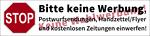 Postbox label 'No advertisements, no canvassing' (german)