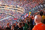 Fans Cheer During The Netherlands vs. Denmark Soccer Match