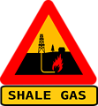 Warning shale gas with text