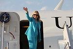 Secretary Clinton Departs Nay Pyi Taw En Route to Rangoon