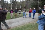 Chris Smith from USFWS Partners program with Dan Ashe and group at partner restoration site in Rochester, Vermont