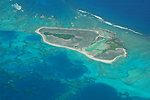 Pearl and Hermes Atoll from the air