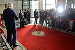 Secretary Kerry and Moroccan Foreign Minister Pose for Photographers in Rabat