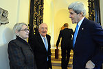 The Hacketts Welcome Secretary Kerry to Chief of Mission Residence for Holy See