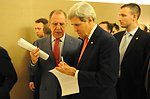 Secretary Kerry Speaks With Russian Foreign Minister Lavrov in Geneva