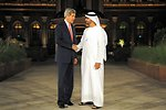 Secretary Kerry is Greeted by Abu Dhabi Crown Prince Mohamed bin Zayed Al Nayhan