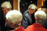 Secretary Kerry, Under Secretary Sherman Shuttle Between Geneva Meetings
