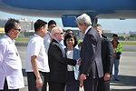 Philippine Ambassador Cuisia and Undersecretary Quiambao-Del Rosario Welcome Secretary Kerry to the Philippines