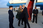 Secretary Kerry Bids Goodbye to Senator Whitehouse After Completing Final Trip of First Year in Office