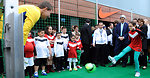 Young Algerian Demonstrates Soccer Skills for Secretary Kerry