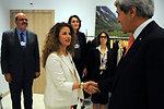 Secretary Kerry Greets Al Arabiya Host Maktabi Before Interview in Switzerland