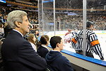 Secretary Kerry Watches Alma Mater Yale Play Harvard in Hockey