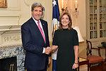 Secretary Kerry and Ambassador Kennedy Pose for a Photo