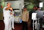 Capt. (Dr.) Parrish Explains a Thermal Image Scanner to Indonesian Defense Minister Dr. Purnomo Yusgiantoro