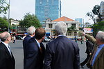 Secretary Kerry Views Building Where Americans Fled Saigon