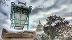 Olmsted Lantern and Capitol Grounds Following March Snow