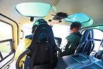 Refuge Manager Rick Potvin in helo (CT)
