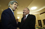 Moldovan President Timofti Welcomes Secretary Kerry to the Presidential Residence