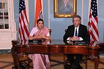 Under Secretary Burns and Indian Ambassador to the U.S. H.E. Meera Shankar Prepare To Sign the U.S.-India Agreement for Nuclear Cooperation Conclusion of Reprocessing Arrangements and Procedures