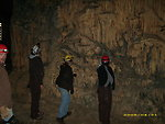 Biologist viewing formation at Madison Saltpeter Cave