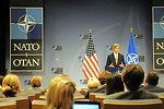 Secretary Kerry Addresses Reporters After a NATO Meeting