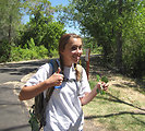 Youth Conservation Corps Participant Gives a Thumbs Up