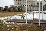 Dome Restoration Project - Fence installation