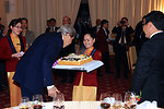 Secretary Kerry Receives a Surprise Birthday Cake in Vietnam