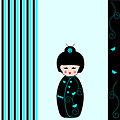 Kokeshi doll card