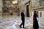Secretary Kerry Receives a Tour of the Vatican from the Vatican Protocol Chief
