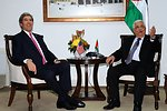 President Abbas Meets With Secretary Kerry in West Bank