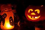 Halloween pumpkin and lights