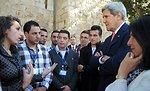 Secretary Kerry Speaks With Palestinian Youth in Bethlehem