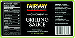 RECALLED - Wolfgang B. Gourmet Foods, Inc. Issues Allergy Alert on Undeclared Fish (Anchovies) in Two Lots Of Fairway Brand Condiment Grilling Sauce