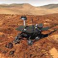 Mars Rover Spirit lands