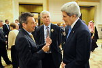 Secretary Kerry Speaks With Red Cross Officials Before Syrian Donors' Conference