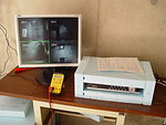 DVR recorder and live feed monitor of bunker interior